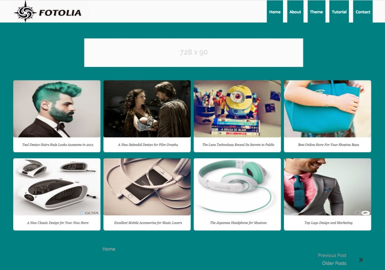 Fotolia Blogger Template