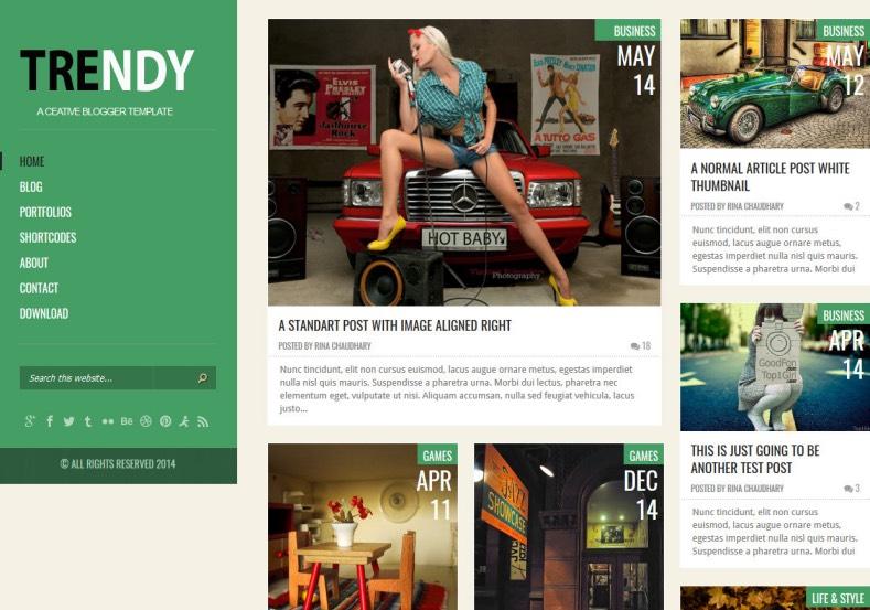 Trendy Green Responsive Blogger Template