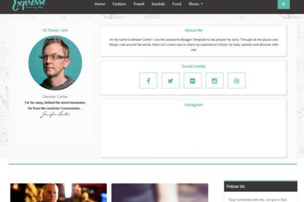 Expresso Sidebar Blogger Template