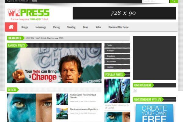 WePress Multi Ads Blogger Template